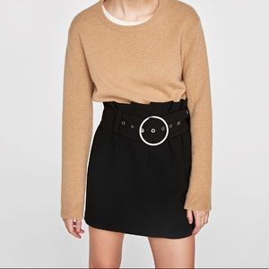 NWT Zara studio bucket mini skirt high waist